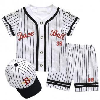 BAEBAE 여름야구3SET(블랙) 자체제작! 국내생산 야구복 세트 아기 모자 유니폼 무형광 어린이 스포츠 공용(3~48개월)